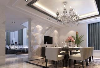 客厅餐厅隔断墙设计