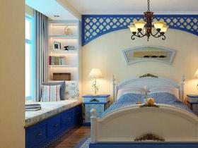 打造清涼臥室 13款地中海飄窗圖片