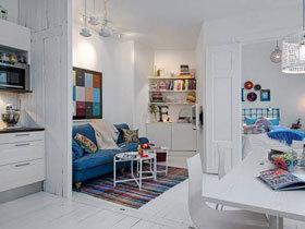 开放式空间 60平北欧一居设计