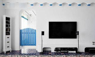 地中海风格三居室120平米设计图