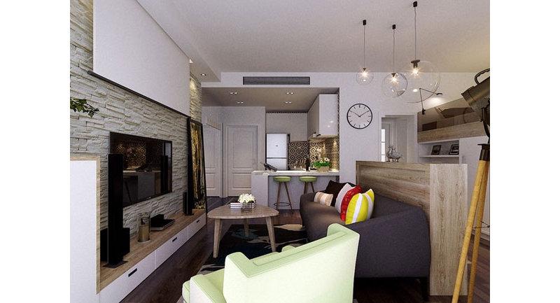 简洁温馨30平米尖顶单身公寓装修效果图
