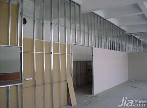 轻钢龙骨隔墙施工工艺 轻钢龙骨隔墙做法图片
