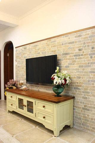 地中海电视背景墙设计效果图