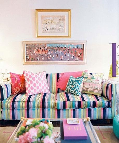 彩色布艺沙发打造治愈系客厅