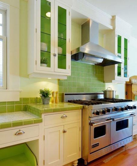 绿色系厨房