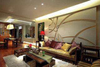东南亚客厅沙发设计效果图