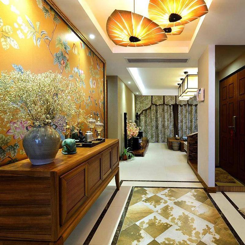 东南亚风格三居室120平米装修效果图