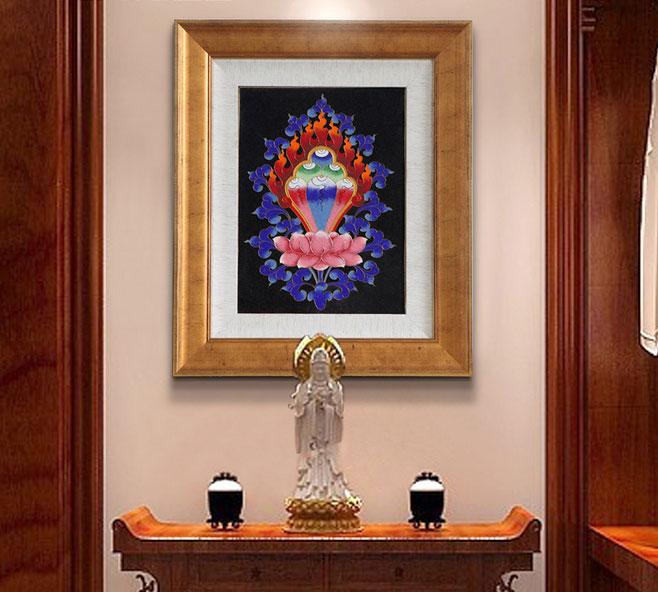 中式家的观音像装扮玄关图片
