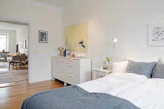 北欧白色卧室设计效果图