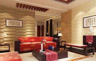 层次感木质沙发背景墙