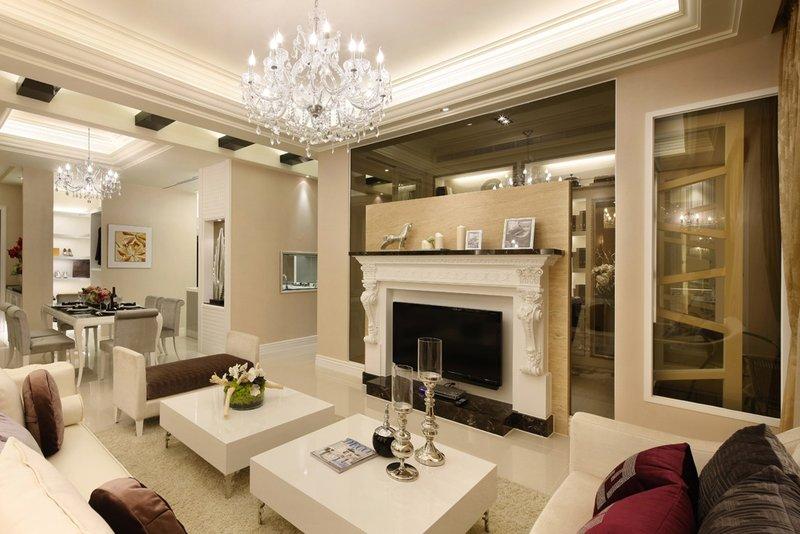 欧式古典客厅效果图-10 15万120平米欧式三居室装修效果图,观澜国图片