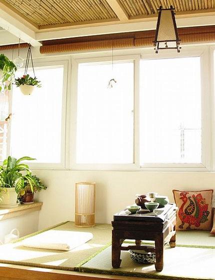 日式榻榻米茶韵阳台设计
