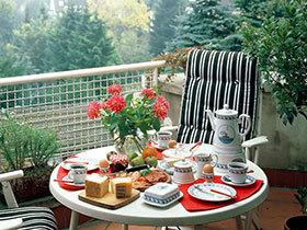 阳光下的美食诱惑 12个阳台装修变身小餐厅