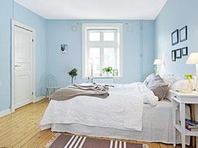小清新淡蓝色卧室设计 瞬间打造清凉夏季