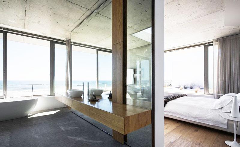 开放式卧室卫生间布置图片