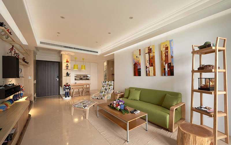 风格室内效果图白色厨房装修效果图小型公寓装修效果图客厅吊顶效果图