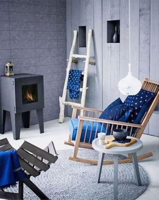 蓝色休闲椅