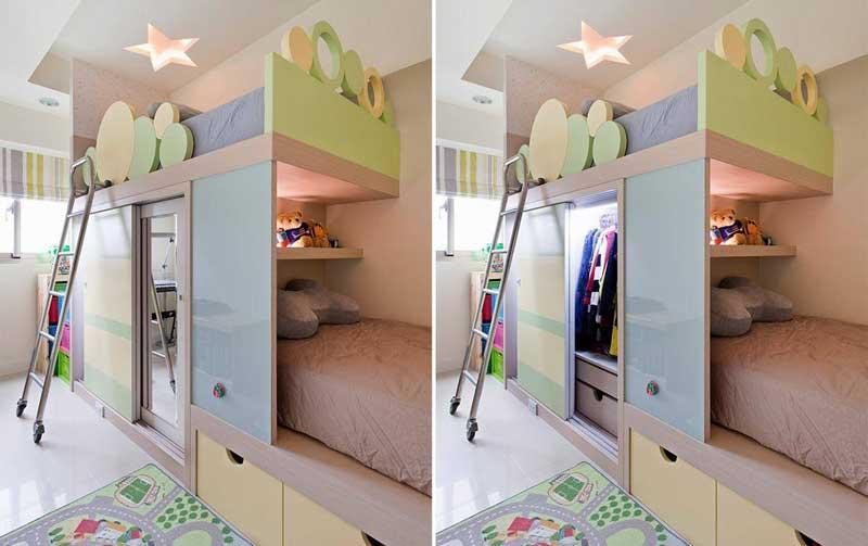 现代简约儿童房设计效果图