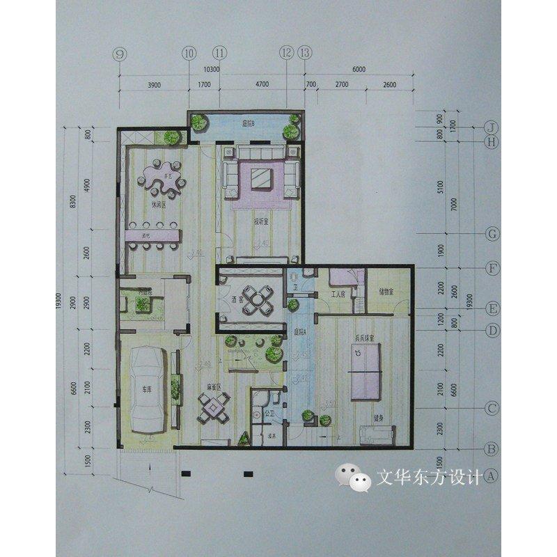 别墅地下室平面布局图片