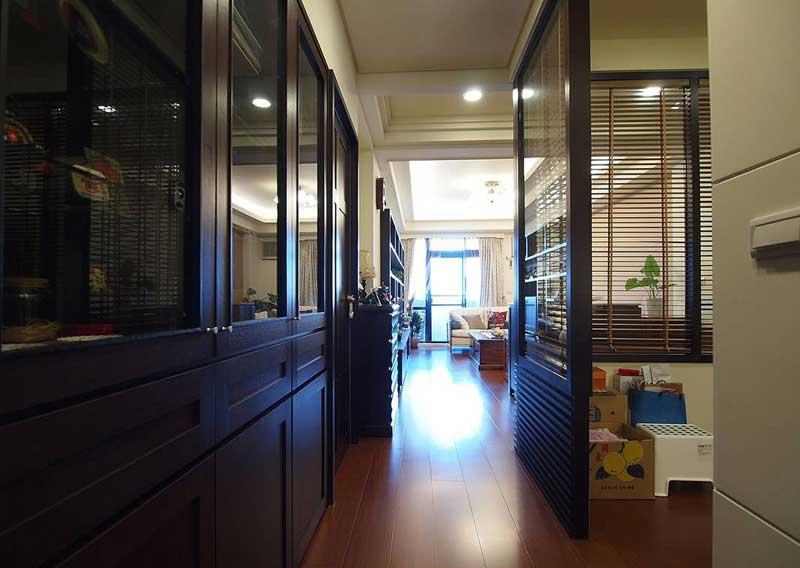 混搭风格三居室140平米以上旧房改造平面图