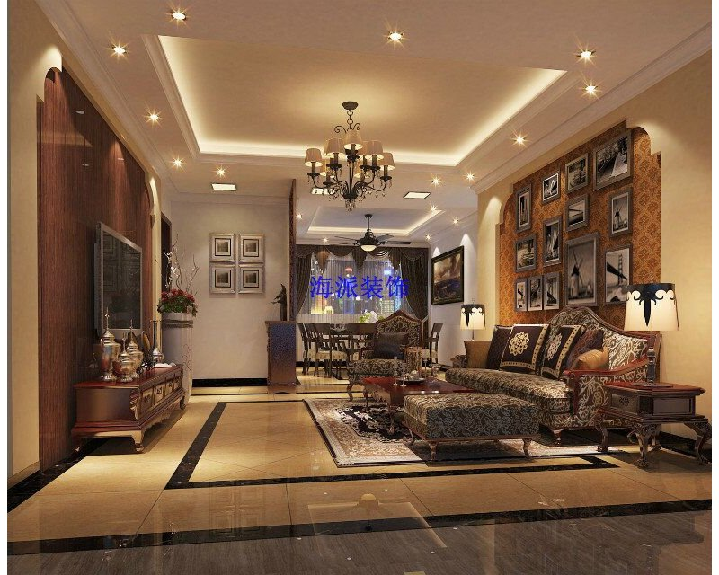 5 10万90平米简约三居室装修效果图,凤景湾装修案例效果图 齐家装高清图片