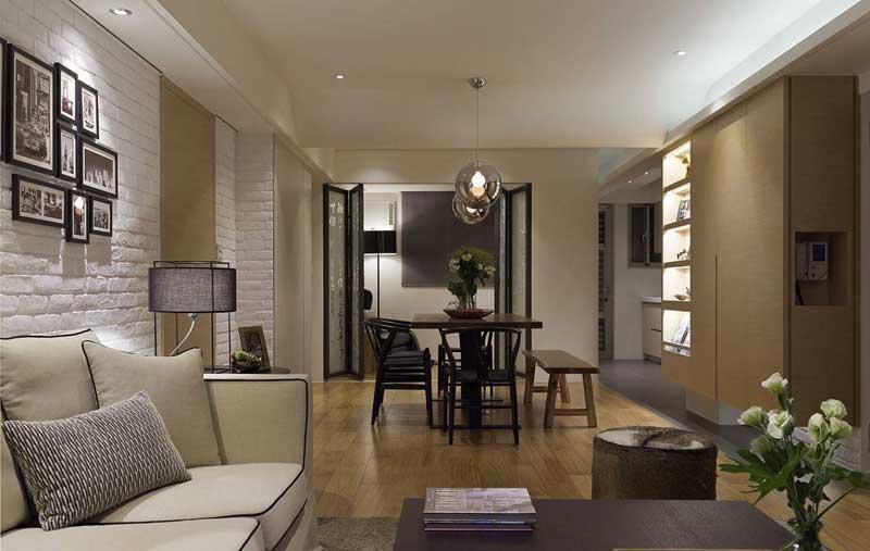 中式清新客厅设计效果图