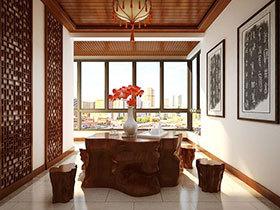 11个中式根雕茶台设计 领略根的艺术