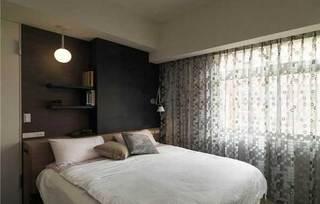 现代温馨卧室设计效果图