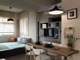 禅意日式原木风 小公寓装修