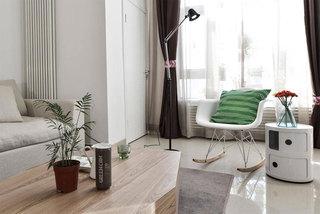 简约风格二居室原木色100平米效果图