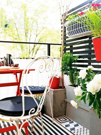 小清新绿色阳台绿植