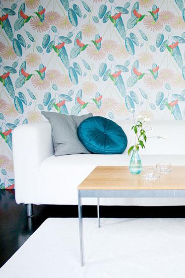蓝色客厅壁纸