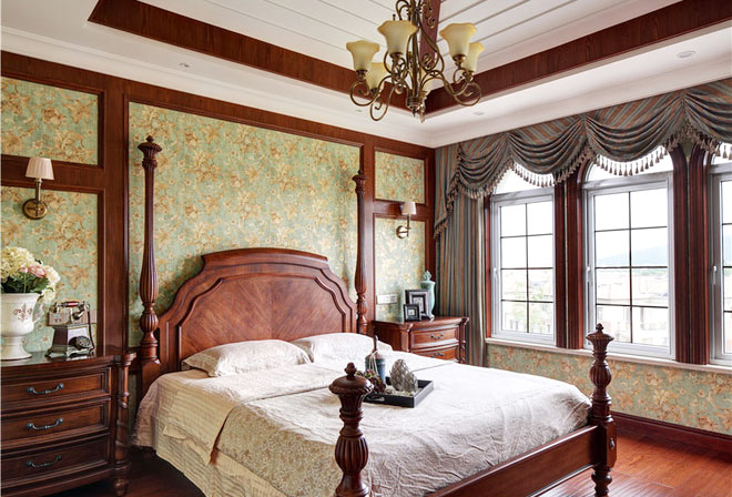 自然美式风格卧室设计图片