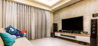 北欧清新电视背景墙设计效果图