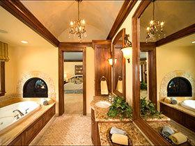 爱上原木 12个木色美式卫浴间设计