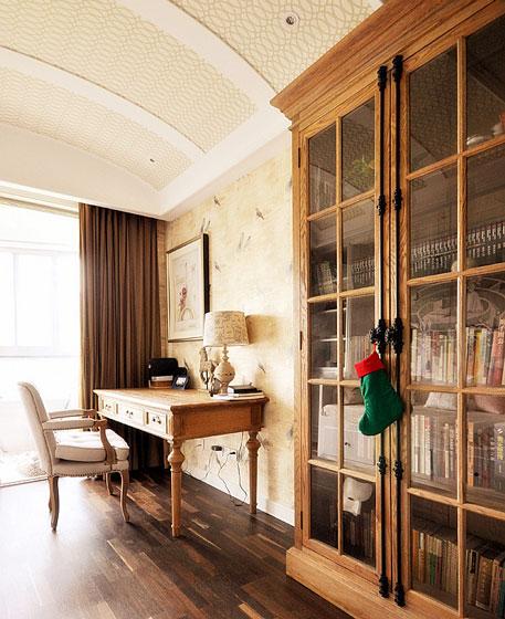 时尚与复古并存的美式书房设计