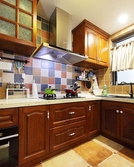 经典美式风格厨房设计_齐家网装修效果图图片