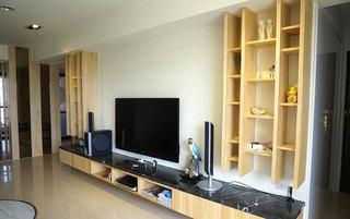 现代简约电视背景墙设计效果图
