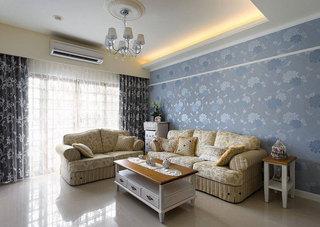 田园客厅沙发设计效果图