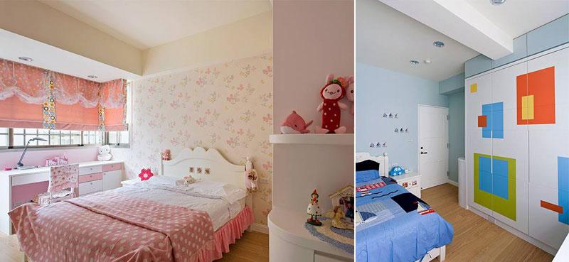 田园风格三居室130平米装修效果图