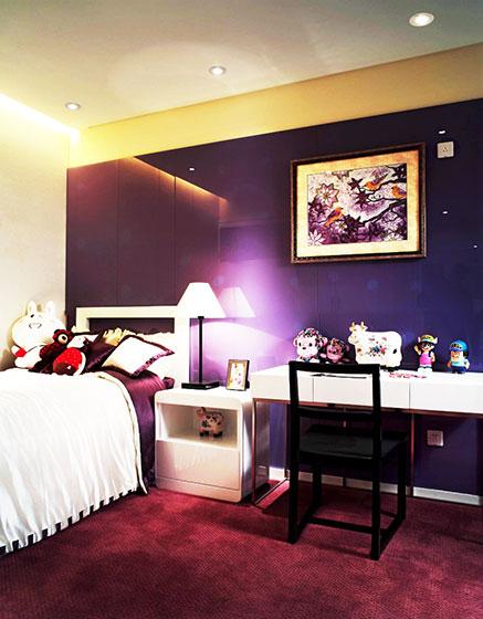紫色卧室设计