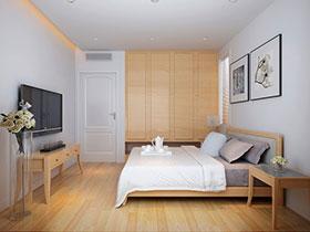 原木日式无印良品卧室设计图