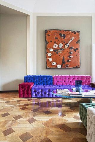 创意红色沙发设计