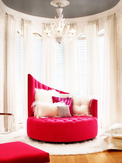 浪漫红色沙发