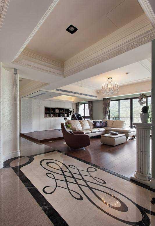 欧式风格三居室古典130平米效果图