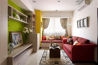 简约清新客厅沙发设计效果图