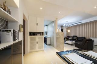 简约风格二居室实用80平米装修效果图