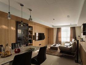 96平北欧风格原木调三居室装修