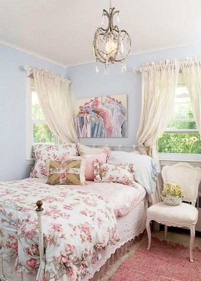 可爱怀旧风格卧室