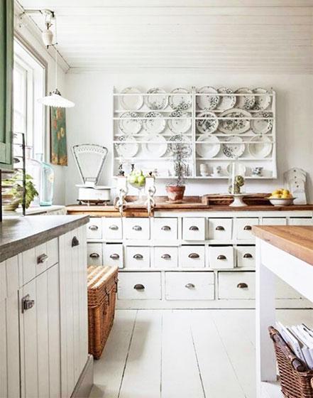 白色可爱风格厨房设计